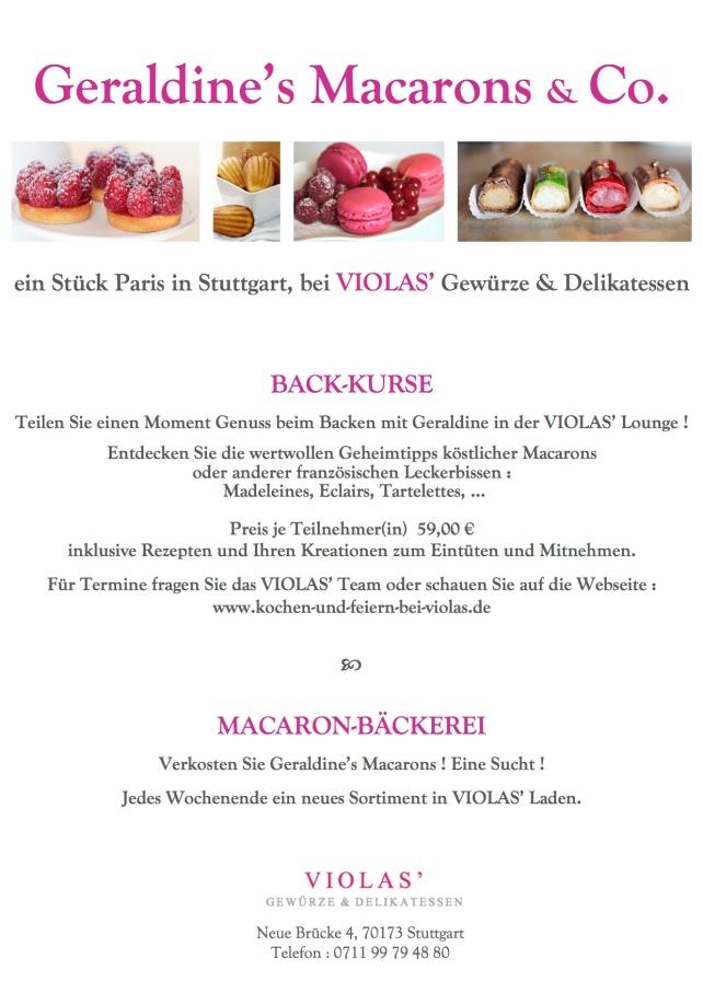 Flyers Macarons und Co4. bei VIOLAS